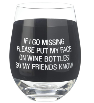 My Face Wine Glass