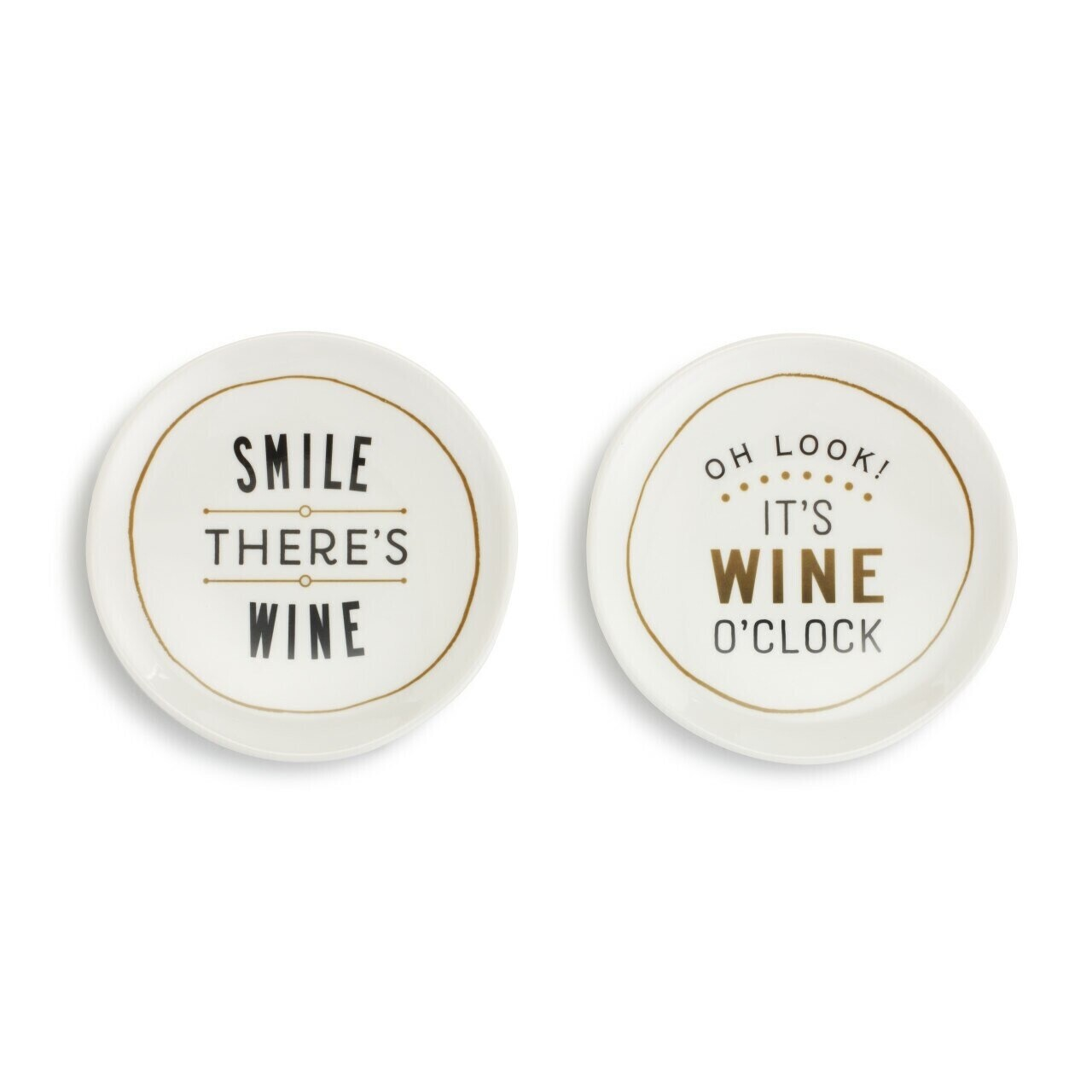 Set of 2 Wine Plates, Smile