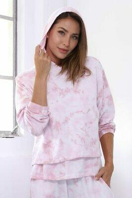 PJ Harlow Diana Hooded Tie Dye Sweatshirt