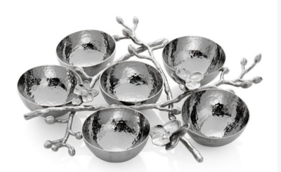 White Orchid 6-Compartment Plate by Michael Aram
