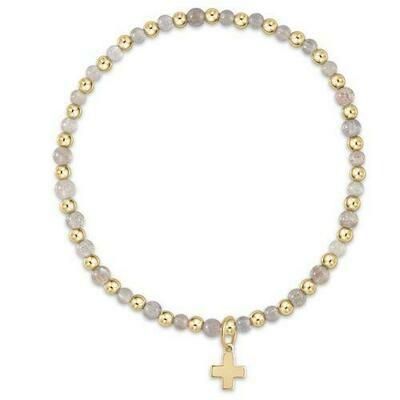 enewton Grateful 3mm Cross Charm Bracelet, Labradorite