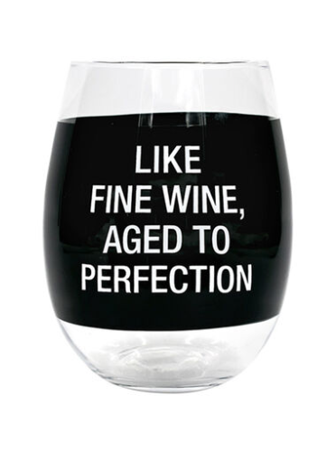 Aged to Perfection Wine Glass