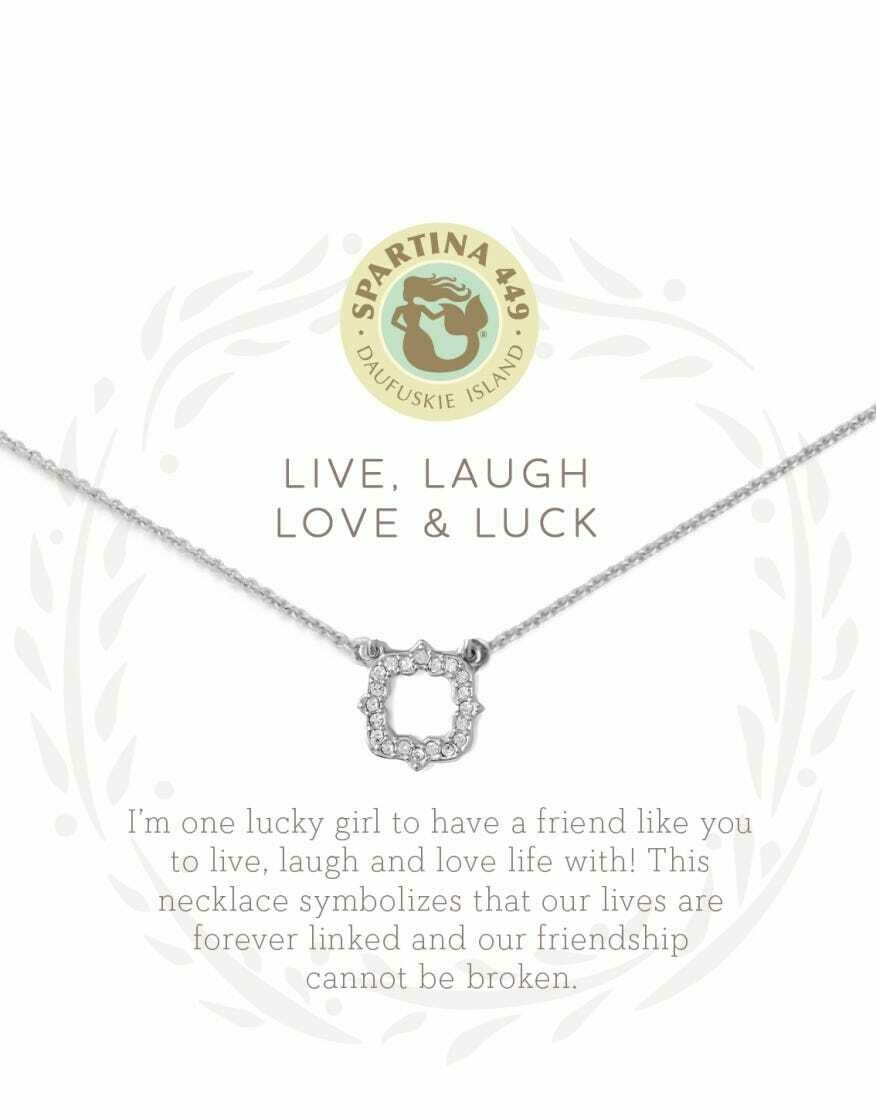 Spartina Live Laugh Love and Luck Necklace