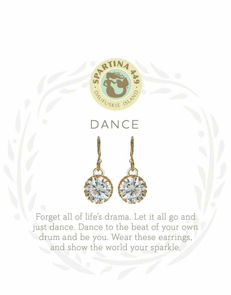 SLV 818877 earrings dance / gem GOLD