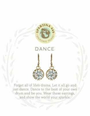 Spartina Dance Gem Earrings in Gold