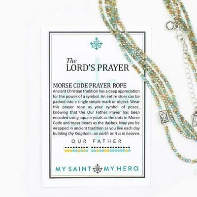 lords prayer morse necklace