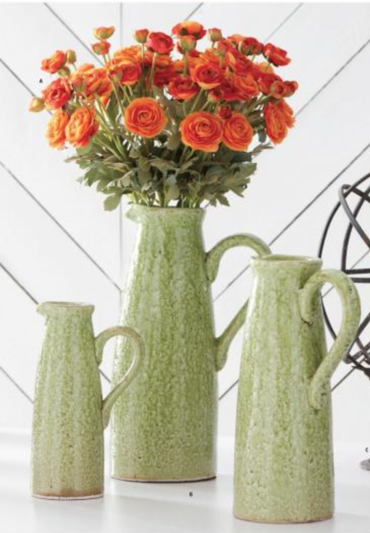 Green Terra Cotta Pitcher
