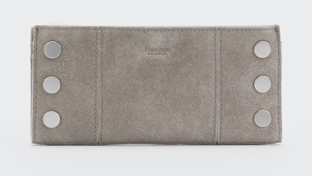 110 North Wallet in Pewter with Brushed Silver
