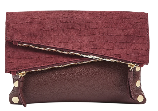 Medium Dillon in Plum with Brushed Gold Hardware