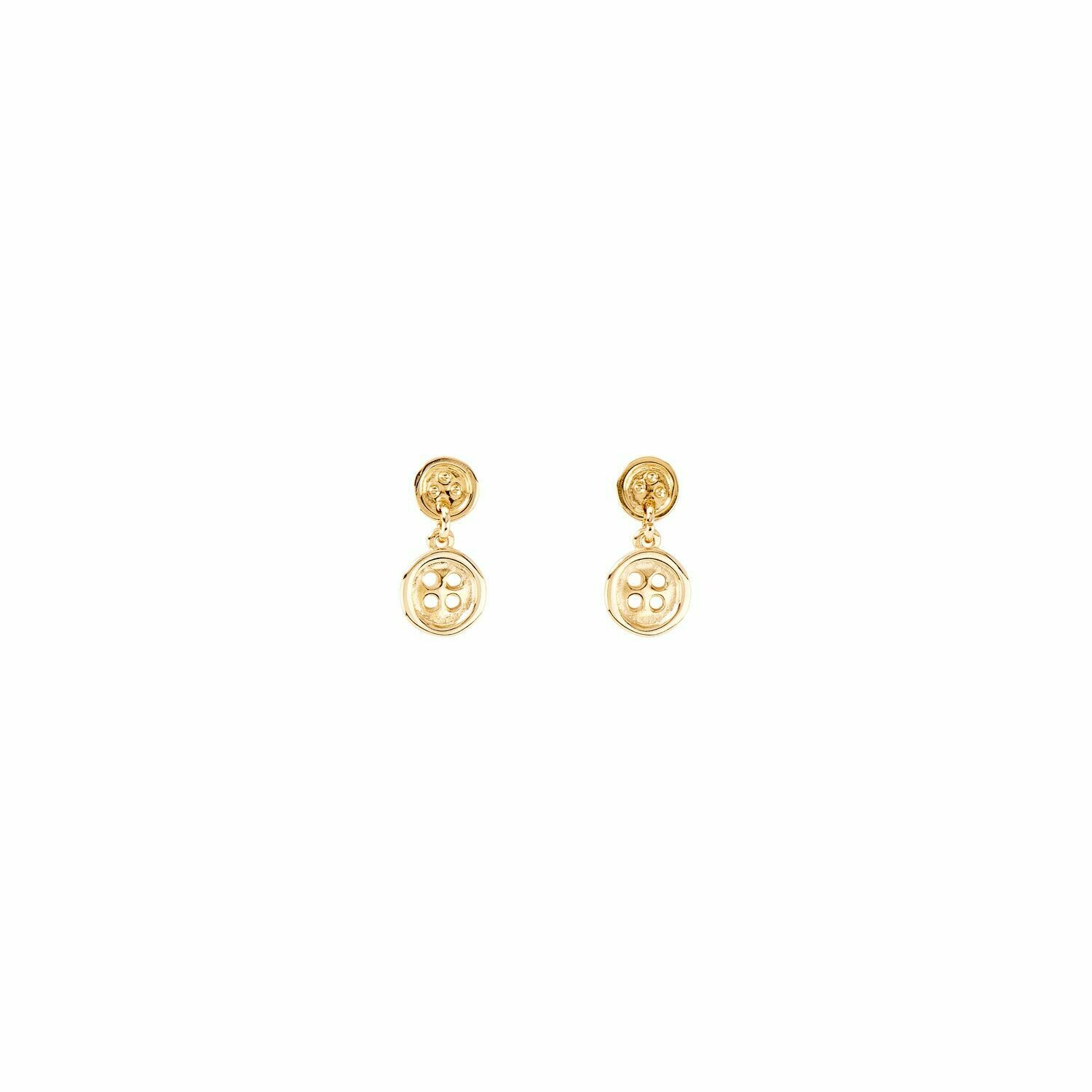 Double Trouble Gold Earrings