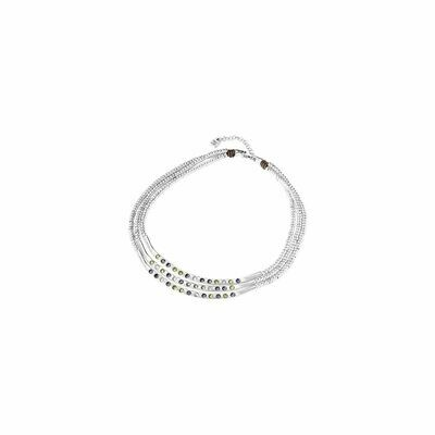 Uno de 50 Triple Blueberries Silver Necklace