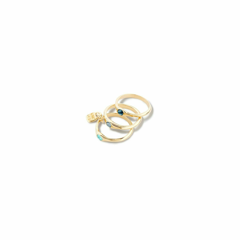 Uno de 50 Happy Blue Gold Rings