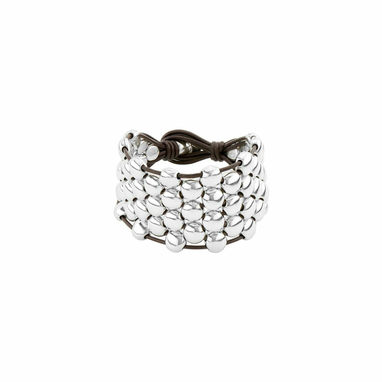 Emotions Silver Bead Bracelet