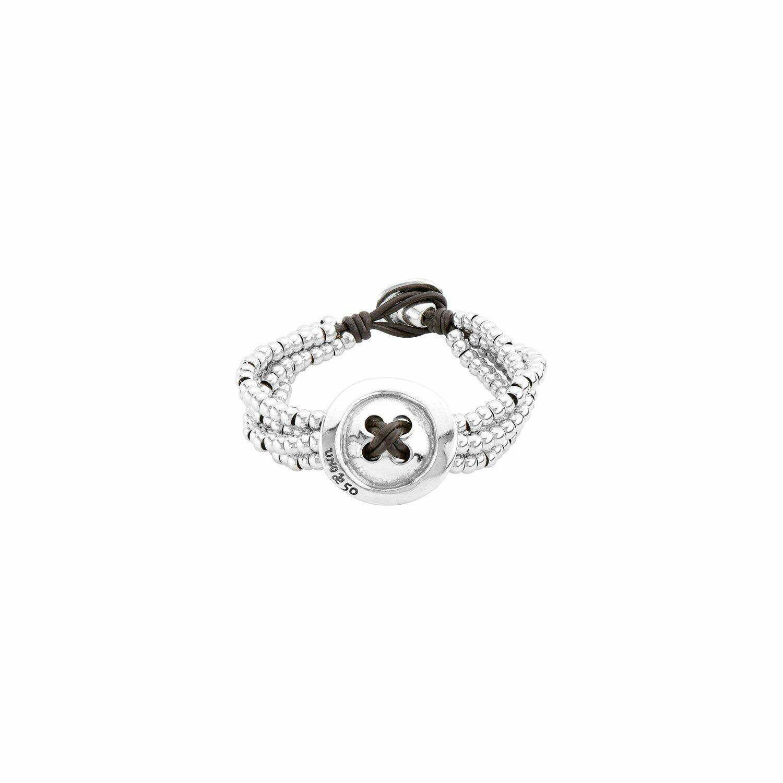 Sewn Silver Bracelet