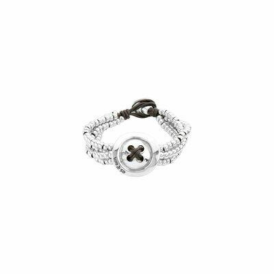 Uno de 50 Sewn Silver Bracelet