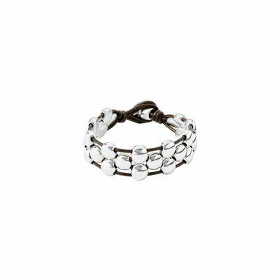 Uno de 50 Friends Silver Bead Bracelet