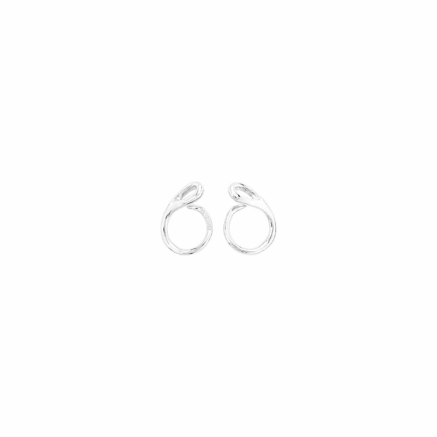Connected Silver Earrings