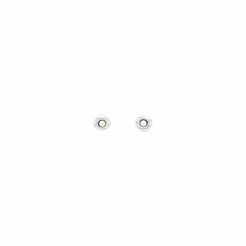 Ciambella Perla Silver Earrings