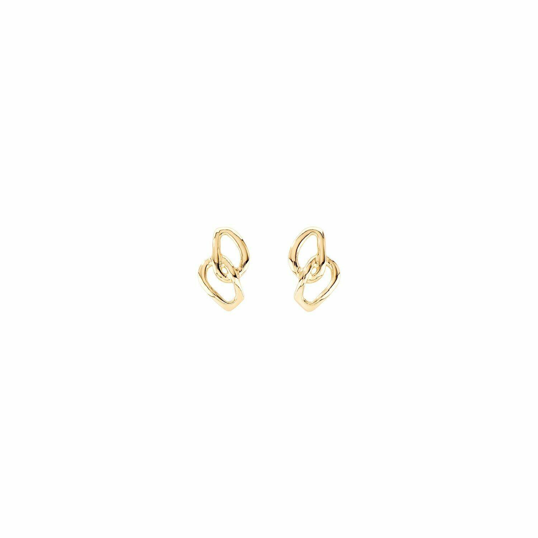 Inseparables Gold Earrings