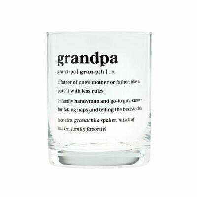 Grandpa Rocks Glass