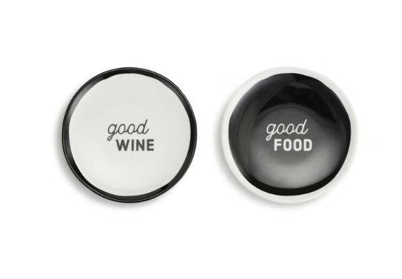Set of 2 Silicone Backed Wine Plates
