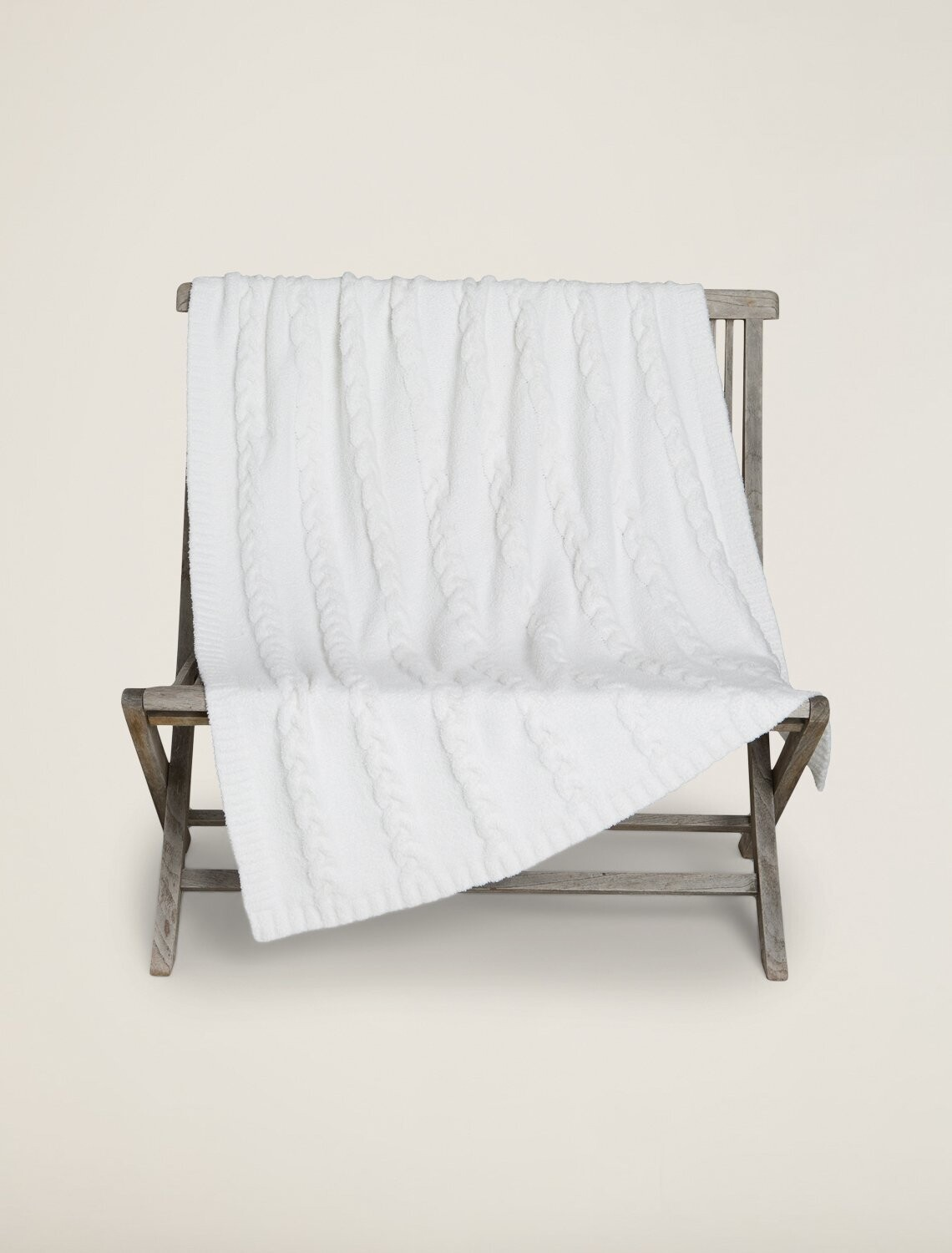 CozyChic Heathered Cable Blanket by Barefoot Dream