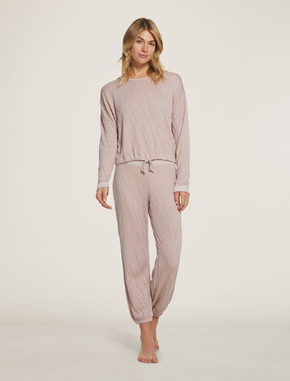 Women's Crinkle Jersey Pajamas