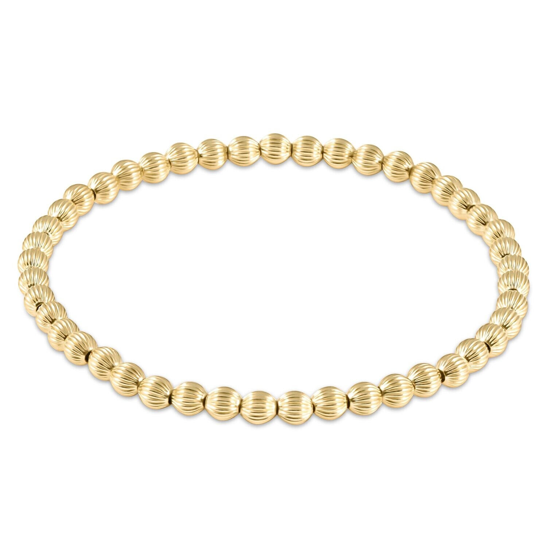 Dignity Gold Bead Bracelet