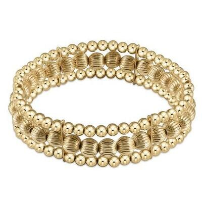 Luxe 3-Strand Dignity Gold Bracelet