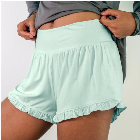 Bamboo Ruffle Shorts