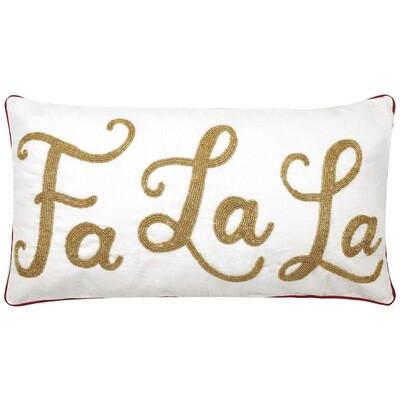 Fa La La Embroidered Pillow