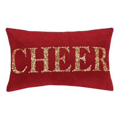 Cheer Beaded Sequin Pillow