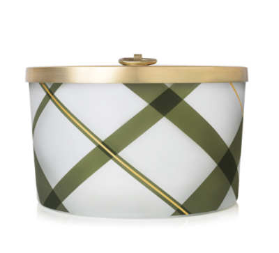 Frasier Fir Large Frosted Plaid Candle