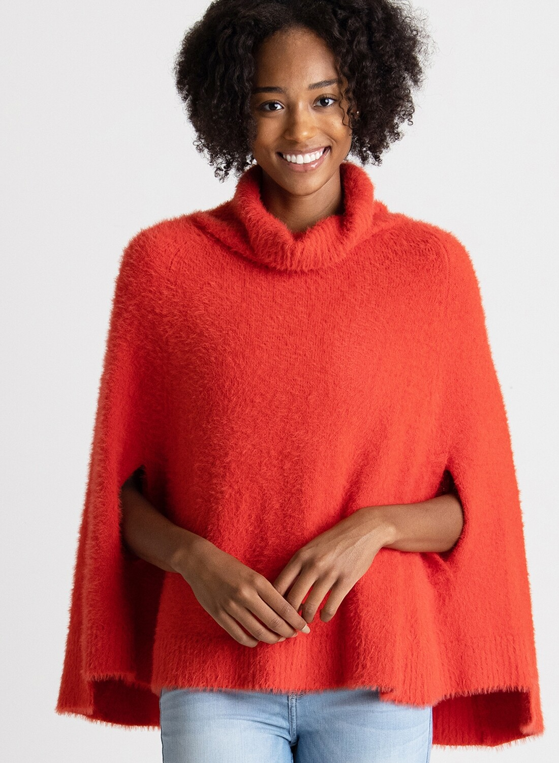 Chalet Red Poncho