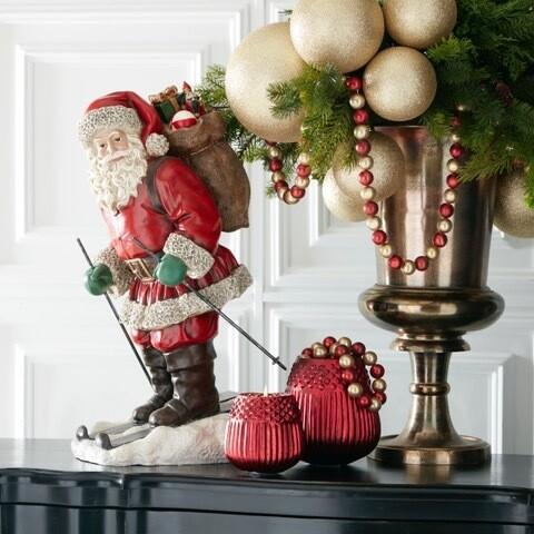 Vintage Santa Skiing