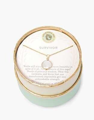 Gold Survivor Necklace