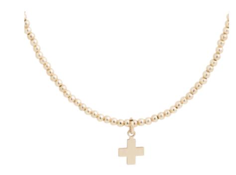 "15"" Choker Classic Gold Bead"