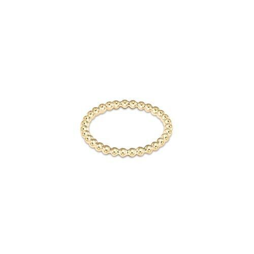 Classic Gold Bead Ring