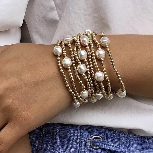 Admire Gold 3mm Bead Bracelet