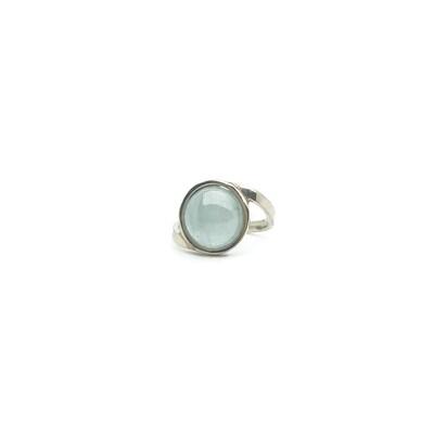 The Elemental Bezel Ring - Aquamarine -5.5⌀ (S925)