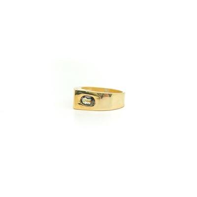 The Elemental Moderne Teardrop Ring - Kyanite - 6.5⌀ (Vermeil)