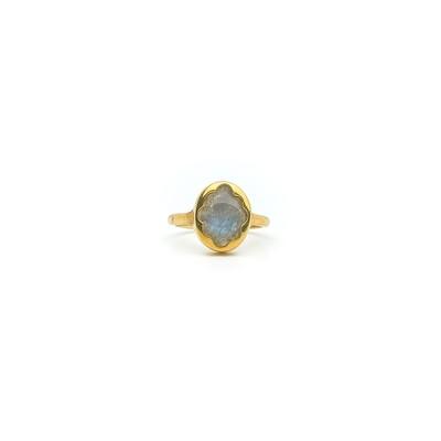 The Elemental Bloom Ring - Labradorite - MTO (Vermeil)