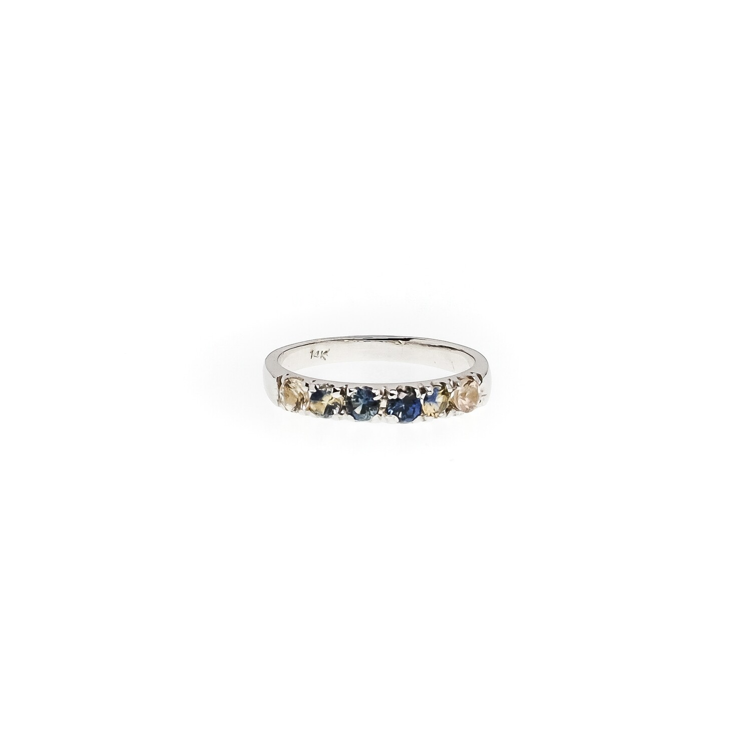 The Elemental Eternity Ring (Starry Night Inspired) - Sapphire - 5.5⌀ (14KT)
