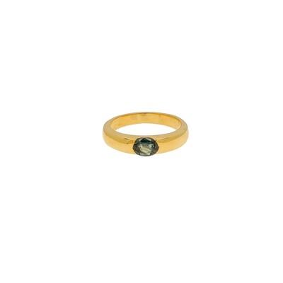 The Elemental Half Gypsy Ring - Kyanite - 5.5⌀ (Vermeil)