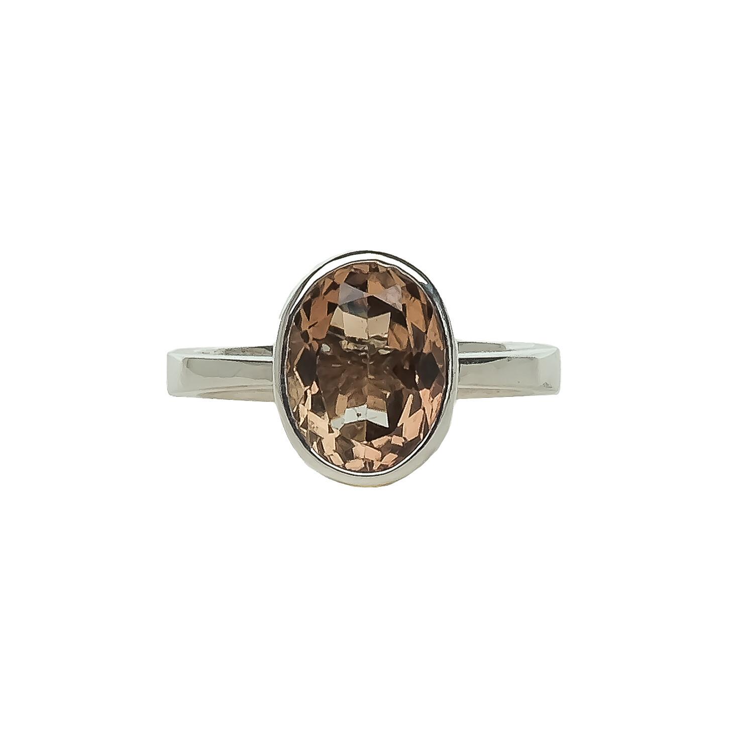 The Elemental Bezel Ring - Topaz - 6.5⌀ (S925)