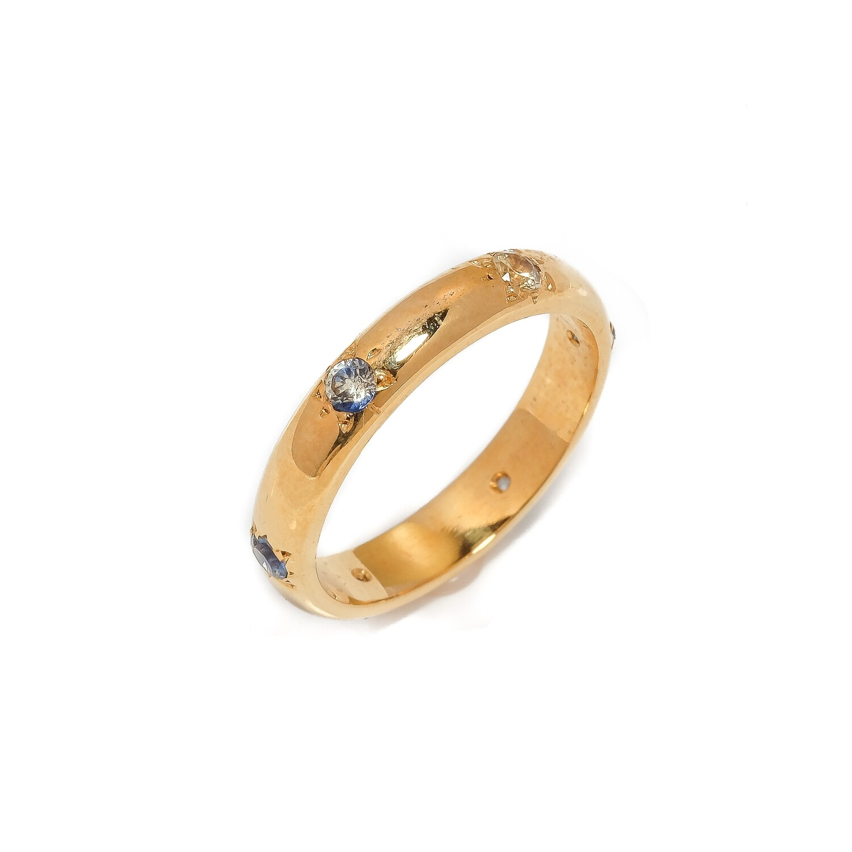 Elemental Orbit Ring - Sapphires - 7⌀ (10KT)