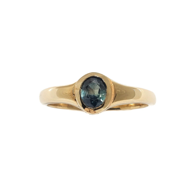 Elemental Signet Ring - Kyanite - 7⌀ (Vermeil)