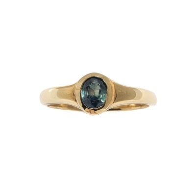 The Elemental Signet Ring - Kyanite - 7⌀ (Vermeil)