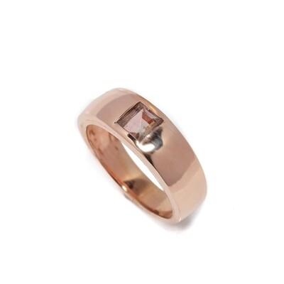 The Elemental Gypsy Ring - Pink Tourmaline - 6⌀ (Vermeil)
