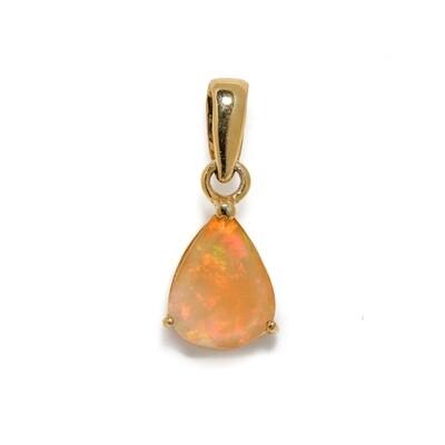 The Elemental Solitaire Pendant - Opal (Vermeil)